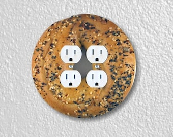 Bagel Round Double Duplex Outlet Plate Cover