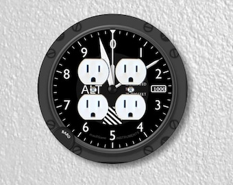 Altimeter Aviation Double Duplex Round Outlet Plate Cover