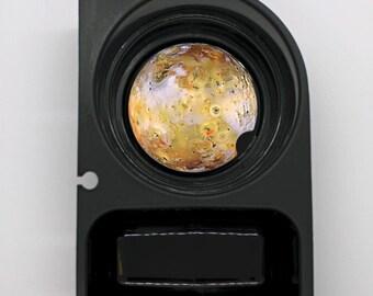 Jupiter Moon Io Space Round Sandstone Car Cupholder Coaster