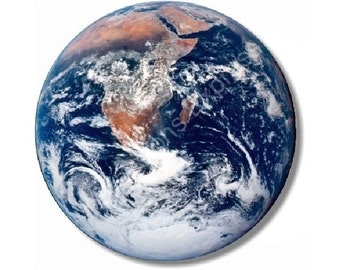 Planet Earth from Space Round Mousepad