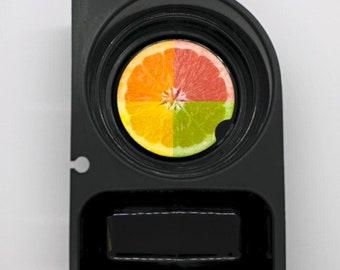 Funky Grapefruit Fruit Round Sandstone Car Cupholder Coaster