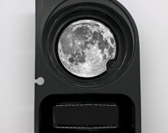 Moon From Space Round Sandstone Car Cupholder Coaster