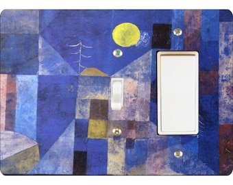 Paul Klee Moonlight Painting Toggle and Decora Rocker Double Switch Plate Cover