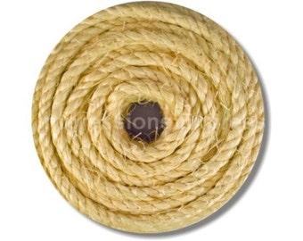 Nautical Sisal Rope Round Mousepad