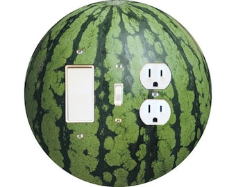 Watermelon Fruit Decora Rocker Switch, Toggle Switch and Duplex Outlet Triple Plate Cover