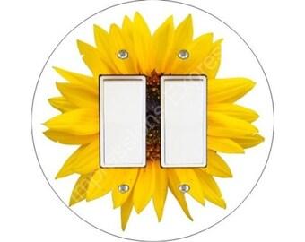 Sunflower Flower Decora Double Rocker Switch Plate Cover
