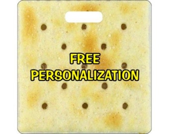 Saltine Cracker Personalized Square Luggage Bag Tag