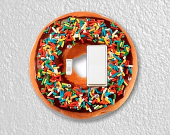 Doughnut Round Toggle and Decora Rocker Switch Plate Cover