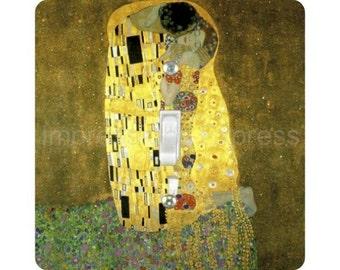 Gustav Klimt The Kiss Square Single Toggle Light Switch Plate Cover