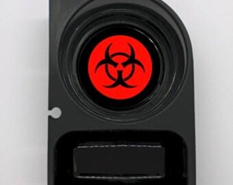 Biohazard Sign Round Car Cupholder Coaster