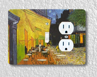 Café Terrace at Night Van Gogh Painting Toggle Switch and Duplex Outlet Double Plate Cover