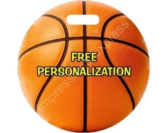 Orange Basketball Ball Personalized Luggage Bag Tag