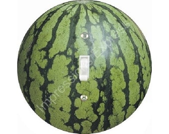 Watermelon Fruit Single Toggle Switch Plate Cover