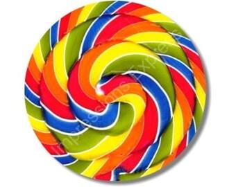 Giant Lollipop Round Mousepad