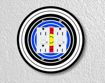 Archery Target Double Grounded GFI Round Outlet Plate Cover