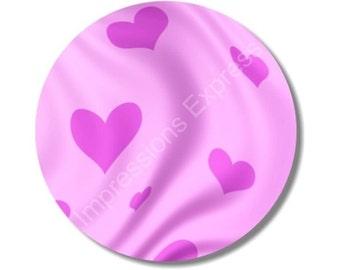 Heart Design Valentine Round Mousepad