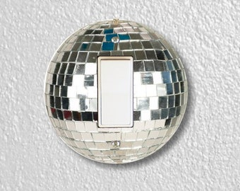 Disco Ball Round Decora Rocker Light Switch Plate Cover