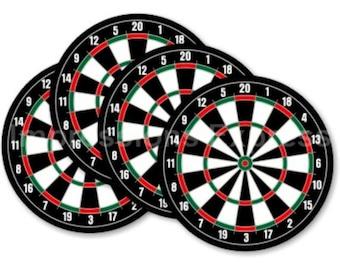Limited Time Sale! Darts Dartboard Coasters - Set of 4