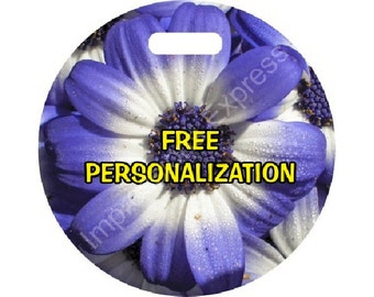 Blue Daisy Flower Personalized Luggage Bag Tag
