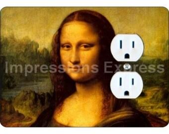 Mona Lisa Da Vinci Painting Duplex Outlet Plate Cover