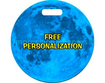 Blue Moon Personalized Luggage Tote Bag Tag