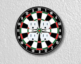 Darts Dartboard Round Double Duplex Outlet Plate Cover