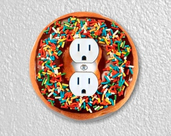 Doughnut Round Duplex Outlet Plate Cover