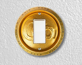 Beer Can Round Decora Rocker Switch Plate Cover