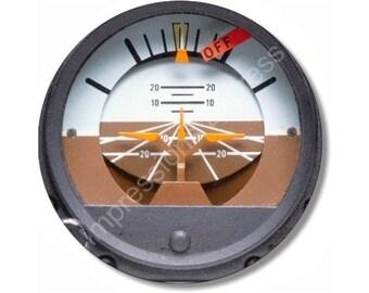 Attitude Indicator Aviation Round Mousepad