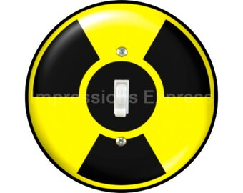 Radioactive Sign Single Toggle Switch Plate Cover