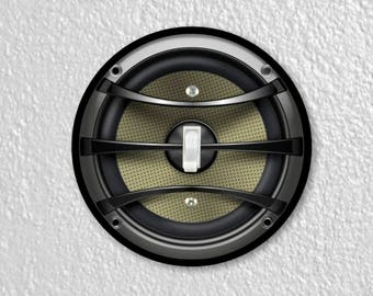 Audio Music Speaker Round Single Toggle Switch Plate Cover
