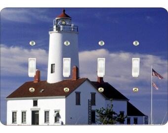 Lighthouse Nautical Quadruple Toggle Light Switch Plate Cover