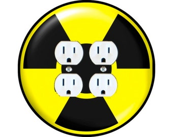 Radioactive Sign Double Duplex Outlet Plate Cover