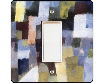 Paul Klee Painting Square Decora Rocker Light Switch Plate Cover