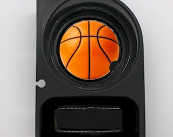 Orange Basketball Round Sandstone Car Cupholder Coaster