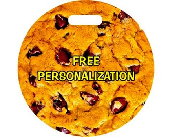 Chocolate Chip Cookie Round Personalized Luggage Bag Tag