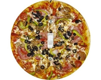 Supreme Pizza Single Toggle Switch Plate Cover