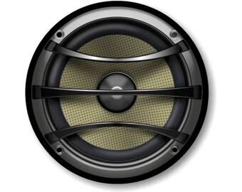 Audio Music Speaker Round Mousepad