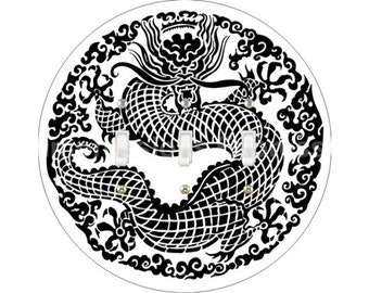 Oriental Dragon Triple Toggle Switch Plate Cover
