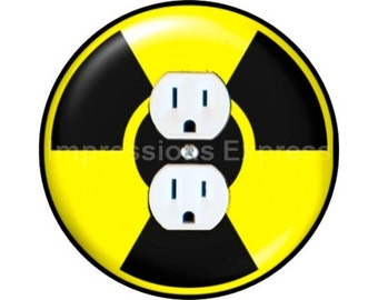 Radioactive Sign Duplex Outlet Plate Cover