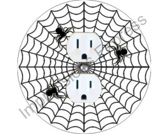 Spider Web Duplex Outlet Plate Cover