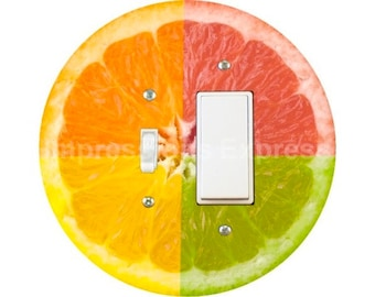 Funky Grapefruit Fruit Toggle and Decora Rocker Switch Plate Cover