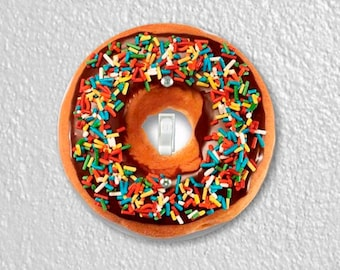 Doughnut Round Single Toggle Switch Plate Cover