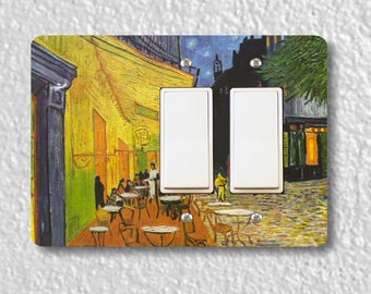 Café Terrace at Night Van Gogh Painting Double Decora Rocker Light Switch Plate Cover