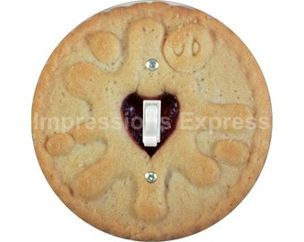 Jam Filled Cookie Single Toggle Switch Plate Cover