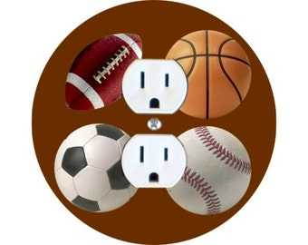 Sport Ball Duplex Outlet Plate Cover