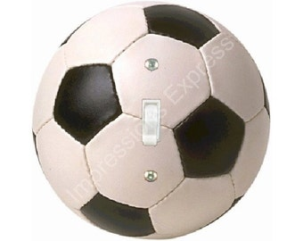 Soccer Sports Ball Single Toggle Light Switch Plate Cover