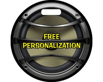 Audio Music Speaker Personalized Round Luggage Bag Tag