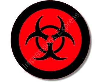 Biohazard Sign Round Mousepad