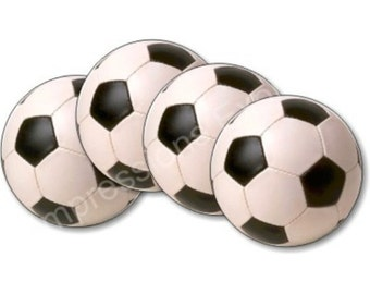 Soccer Sports Ball Coasters - Set of 4